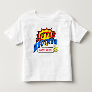 Little Brother Superhero Custom Toddler T-Shirt