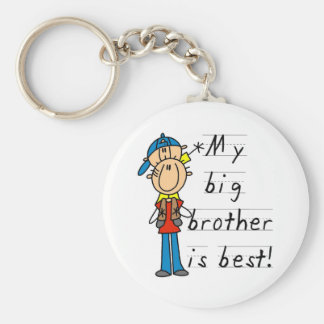 Little Brother T-shirts and Gifts Basic Round Button Key Ring