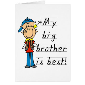 Little Brother T-shirts and Gifts Greeting Card