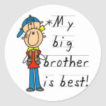 Little Brother T-shirts and Gifts Classic Round Sticker