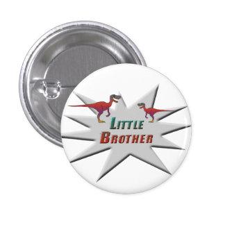 Little Brother Velociraptor Design 3 Cm Round Badge