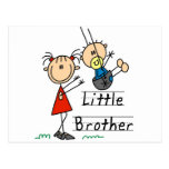 Little Brother with Big Sister Tshirts Postcard
