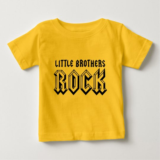 Little Brothers Rock Baby Tee