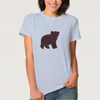 Little Brown Bear Cub Ladies Tshirt