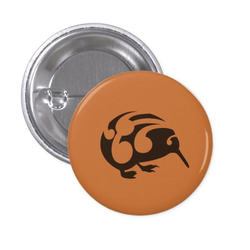 Little Brown KIWI badge Pinback Button