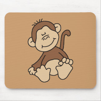 Little Brown Monkey Tshirts and Gifts Mouse Pad