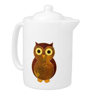 Little Brown Owl Teapot