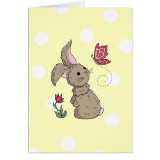 Little Brown Spring Bunny Card