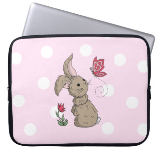 Little Brown Spring Bunny Laptop Sleeve