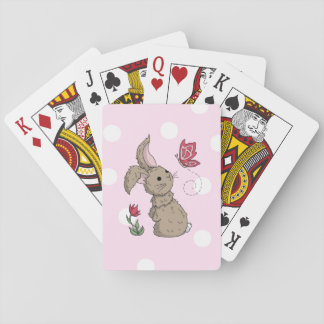 Little Brown Spring Bunny Playing Cards