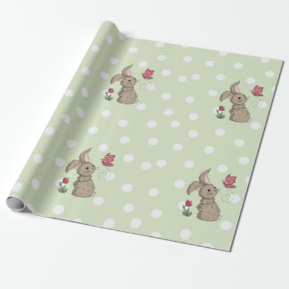 Little Brown Spring Bunny Wrapping Paper