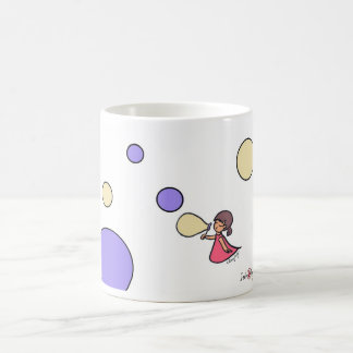 Little Bubbles Girl White 11 oz Classic White Mug