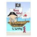 Little Buccaneer 1st Birthday Pirate Invitation 13 Cm X 18 Cm Invitation Card