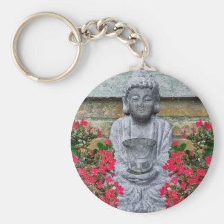 Little Buddha Sculpture Collage Keychains
