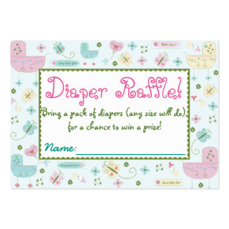 Little Buggy Baby Shower Diaper Raffle Tickets Pack Of Chubby Business Cards