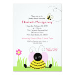 Little Bumble Bee Baby Shower 5x7 Personalised Invitations