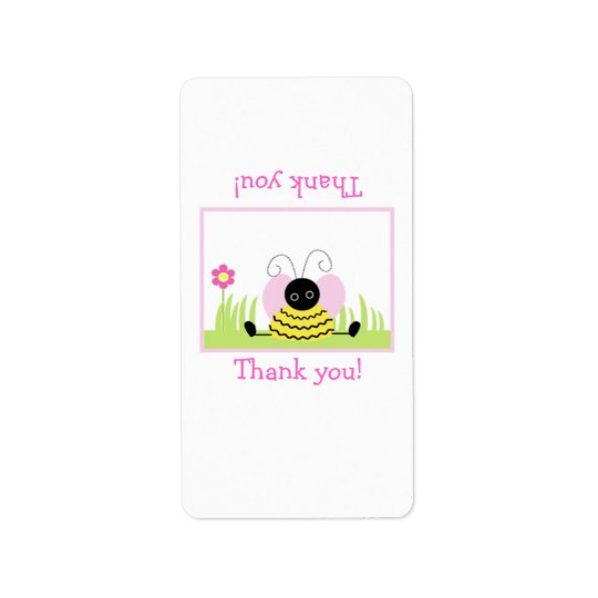 Little Bumble Bee Hershey Mini Wrapper Template Address Label