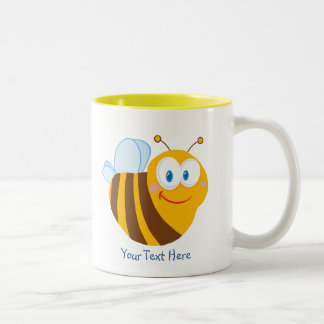 Little Bumblebee (personalized) Two-Tone Coffee Mug