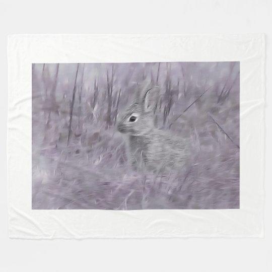 little bunny rabbit fleece blanket