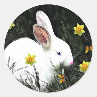 Little Bunny Round Sticker