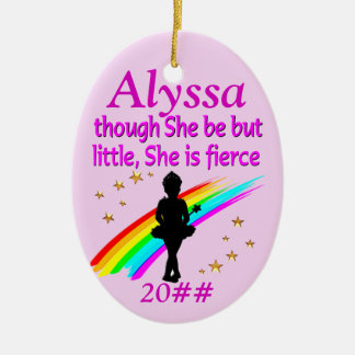 LITTLE BUT FIERCE PERSONALIZED BALLERINA ORNAMENT
