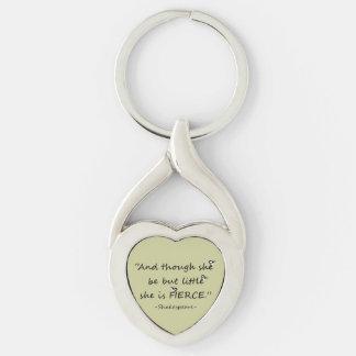 Little but Fierce Shakespeare Quote Little Birds Key Chain