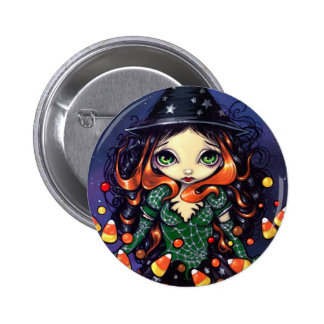 """Little Candy Witch"" Button"