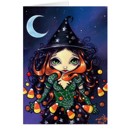 """""""Little Candy Witch"""" Greeting Card"""