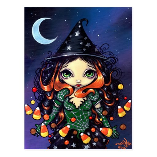 """""""Little Candy Witch"""" Postcard"""