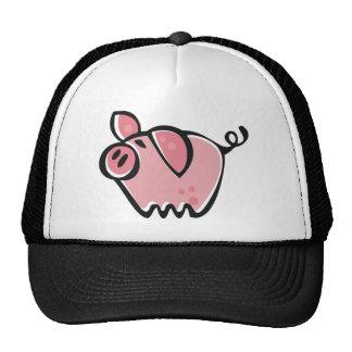 Little cartoon Pink Piggie Trucker Hats