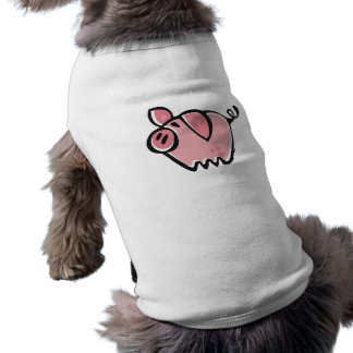 Little cartoon Pink Piggie Sleeveless Dog Shirt