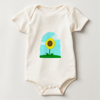 little cartoon sunflower baby bodysuit