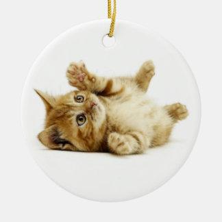 LITTLE CAT ROUND CERAMIC DECORATION