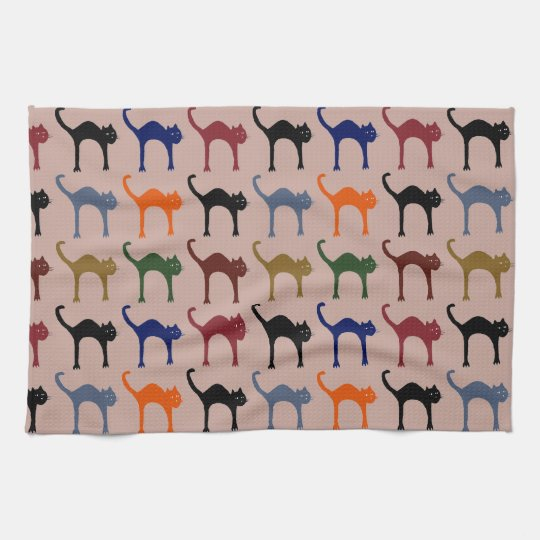 little cats tea towel