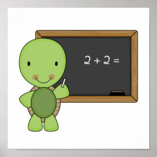little chalkboard turtle poster