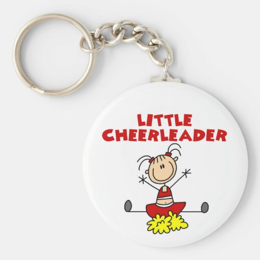 Little Cheerleader T-shirts and Gifts Basic Round Button Key Ring