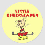 Little Cheerleader T-shirts and Gifts Round Stickers