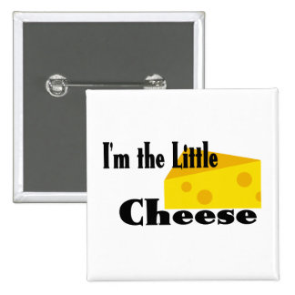 Little Cheese 15 Cm Square Badge
