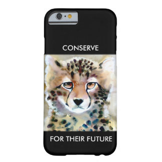 """Little Cheetah"" Watercolor Print Barely There iPhone 6 Case"