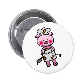 Little chef 6 cm round badge