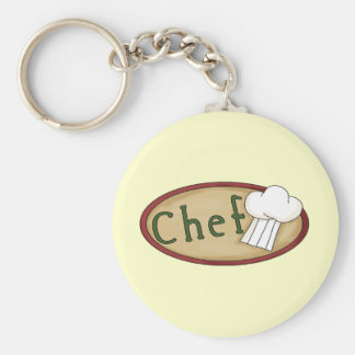 Little Chef Basic Round Button Key Ring