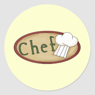 Little Chef Classic Round Sticker
