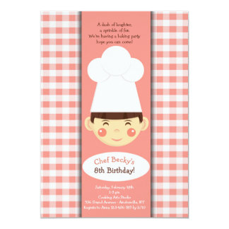 Little Chef Invitation