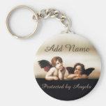 Little Cherub Angels Basic Round Button Key Ring