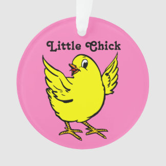 Little Chick Bright Yellow Chicken Ornament