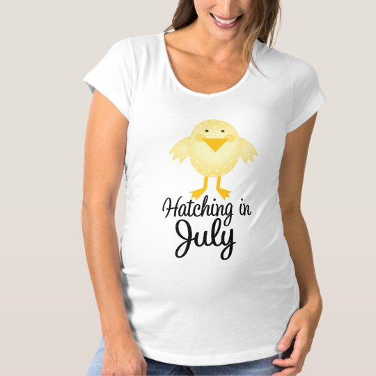 Little Chick Due In July Maternity Shirt