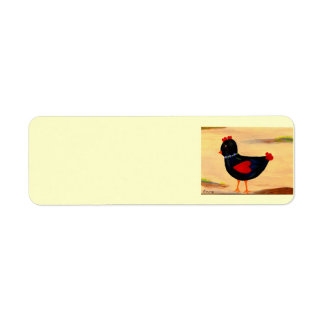 Little Chicken with Hearts Return Address Label