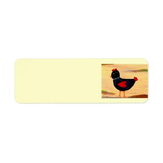 Little Chicken with Hearts Return Address Label