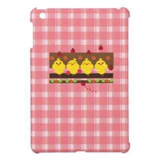 Little chickens and lady bugs iPad mini covers