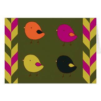 Little chicks blank greeting card
